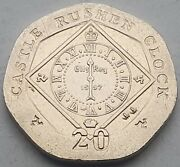 Isle Of Man Castle Rushen Clock 20p Coins - Circulated