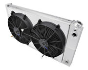 1973-1980 Chevy Truck Radiator For Ls Motor,shroud And Fans, Champion Aluminum 161