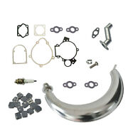 Muffler Exhaust And Square Clutch Pads Fits 66cc 80cc Engine Motorized Bicycle