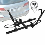Leader Accessories Tire Clamping 2-bike Platform Style Hitch Mount Bike Rack, Lo