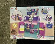 New Disney Doc Mcstuffins Pet Rescue Mobile 21pc 3+ Years On-the-go Care Playset