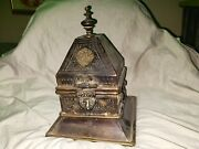 Rare Large 18lbs Early 19th Century Chinese Brass/metal Temple Offering Lockbox