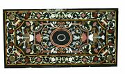 5and039x3and039 Marble Center Table Top Semi Precious Stones Inlay Art Decor