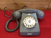 Vintage 1971 Phone Rotary Dial Grey Bakelite Made In Hungary Home Hotel Phone