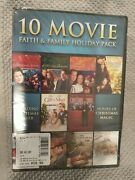 10 Movie Faith And Family Holiday Pack Dvd, 2013, 3-disc Set Christmas - New