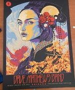 Dave Matthews Band Poster Chicago, Il Northerly Island 8/6/2021 Ken Taylor 'd