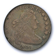 1807 10c Draped Bust Dime Icg Vf 30 Very Fine To Extra Fine Tough Coin