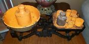 Antique Cast Iron Scale Balance 3k And Weights Food/ Pharmacy /decorative