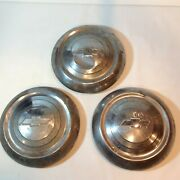 1951 1952 1953 Chevy Vintage Dog Dish Hub Caps 3 Only