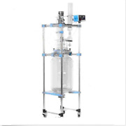 50l Lab Jacketed Glass Chemical Reactor Vessel Explosion Proof Customizable