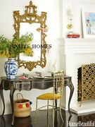 New Ethan Allen 62 Ornate Gilded Gold Georgian Asian Chippendale Pagoda Mirror