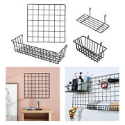 Wall Grid Panel Hanging Basket Picture Display Postcard Shelf Office Cubicle