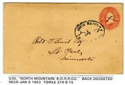 274-s-15 North Mountain Wv Railroad Agt Bando To St Paul Mn On Postal Entire