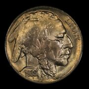 1935-s 5c Buffalo Nickel. Pcgs Ms66. Extremely Lustrous Coin.