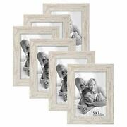 Boichen Picture Frames 5x7 6-pack - Rustic White Washed Farmhouse Wooden Fram...