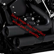 Vance And Hines Mini-grenades 2-into-2 Exhaust Black For 18-19 Harley Fxbb