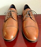 Cole Haan Grand. Os C11632 Lenox Hill Oxford Tan Leather Mens Shoes. Size 9m.
