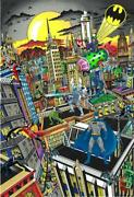 Charles Fazzino Batman Rules The Night Pr Signed And Numbered 3d Serigraph