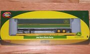 Athearn 7737 50and039 Flat Car With 45and039 Trailer John Deere 60242