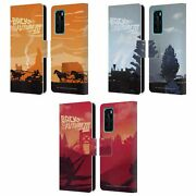 Back To The Future Movie Iii Car Silhouettes Leather Book Case Huawei Phones 4