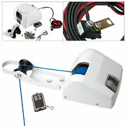 25lbs 12v Boat Electric Anchor Winch W/ Remote Wireless Control For Saltwater