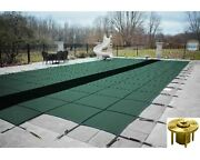 Gli Hyperlite Solid Pool Safety Cover W/ Sure-flo Drain And Step And Wood Anchors
