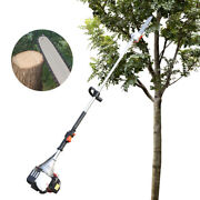 New 37cc 4stroke Gas Powered Pole Saw Cordless Chainsaws Tree Trimmer Long Reach