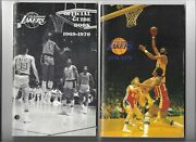 Lot Of 26 Los Angeles Lakers Media Guides From 1969-1999 Excellent/near Mint
