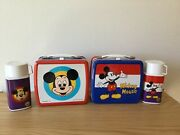Mickey And Minnie 1970andrsquos Japanese Zojirushi Lunchboxes Set Of 2
