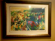 Leroy Neiman Paddock At Chantilly 1992 Signed Large Serigraph 214 Of 250