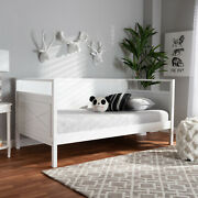 Baxton Studio Cintia Cottage Farmhouse White Finished Wood Twin Size Daybed