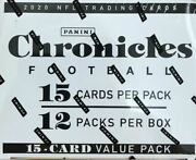 2020 Chronicles Football Factory Sealed Cello Fat Pack Box-justin Herbert/burrow