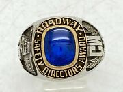 Roadway Trucking 10 Year Quality Service Safety Directors Award Ring Gold Top