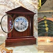 Antique Usa Seth Thomas 4 Bell Sonora Chime Clock Double Movement And Pendulum.