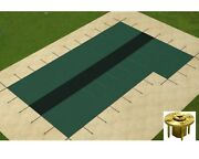Gli Hyperlite Solid Swimming Pool Safety Cover W/ Sure-flo Panel And Right Step