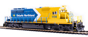 Broadway Limited 6788 Emd Sd40-2, Ontario Northland 1733, Blue And Yellow Arrow