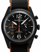 Bell And Ross Vintage 126 Chronograph Br126-94-sc Stahl Automatik Uhr 2018