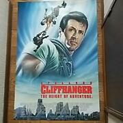 Cliffhanger Movie Poster 1pc Sylvester Stallone 1993 W/ Japanese Brochure Usa