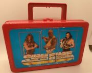 Rare Wwf 1991 Superstars Red Lunchbox/carrying Case