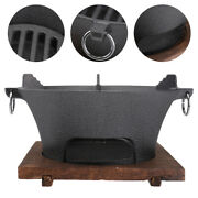 1 Set Of Round Barbecue Grill Barbecue Stove For Camping Outdoor