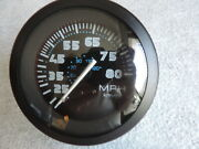 New Faria 80 Mph 4 3-3/38 Hole 85mm Pitot Gauge Boat