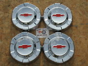 1961 1962 1963 Chevy 1/2 Ton Pickup Truck Poverty Dog Dish Hubcaps Set Of 4