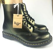 Dr. Martens Mens Pascal Virginia 1460 Lace Up Leather Chroma Gold Boots Size 10