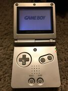Nintendo Game Boy Advance Sp Silver/platinum System W 3 Games Gameboy Charger