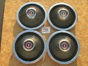 1968-73 Ford Galaxie, Ltd, Custom 15 Fin Style Wheel Covers, Hubcaps, Set Of 4