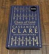 Cassandra Clare Waterstones Exclusive Chain Of Gold Rune Ed Signed Brand New