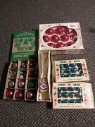 Lot Vintage Shiny Brite Ball Ornaments And Christmas Tree Triple Indent Topper