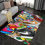 Street Style Sneaker Carpet Sneaker Area Rugs For Living Room Shoes Brand Rugs
