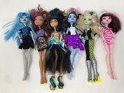2008 Monster High Doll Lot Of 6 With Clothes And Accessories Huge Lot Incomplete