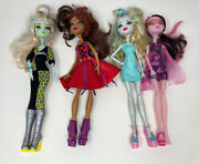 2008 Monster High Doll Lot Of 4 With Clothes And Accessories Huge Lot Incomplete